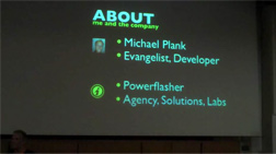 Michael Plank's FDT4 Presentation at Flash Camp Manchester